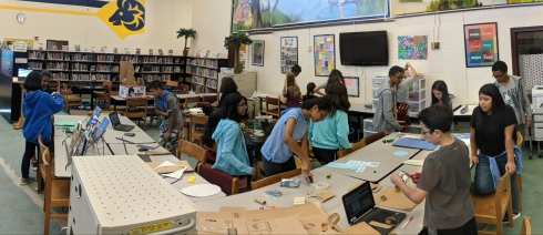 Students at work in our makerspace.